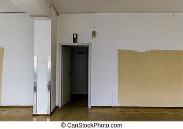 empty standing store