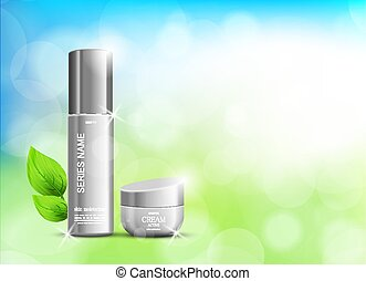 Beauty cosmetic ads template
