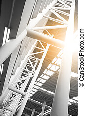 Industrial building - abstract architectural background