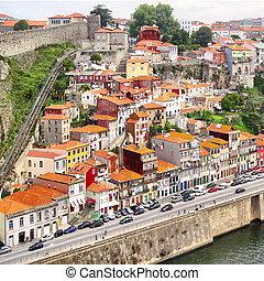 Vila Nova de Gaia district in Porto, Portugal