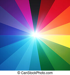lens flare spectrum eighteen - the round shape of colorful...