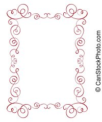 square flourish calligraphy vintage frame. Illustration vector hand drawn EPS 10