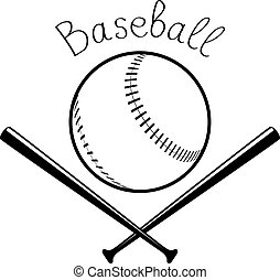 Image sport background - Black sketch of baseball ball with...