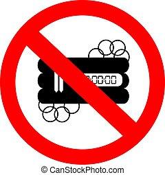No bomb sign