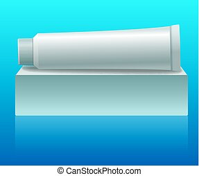 toothpaste tube packaging - illustration of mock up for...