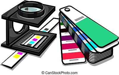 equipments prepress tools - illustration of equipments tools...