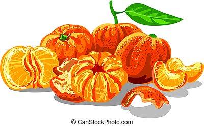 fresh juicy mandarines