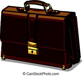 leather brown briefcase