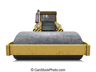 Steamroller - 3D illustration