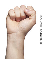 symbol of the struggle and not surrendering, white background