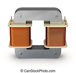 Electric transformer - 3D illustration