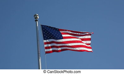 American flag - the USA flag in a stiff breeze