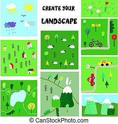 Create your own landscape constructor - funny map elements,...