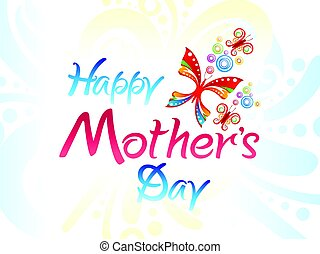 abstract artistic colorful mothers day background.eps