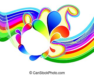 abstract rainbow wave explode.eps