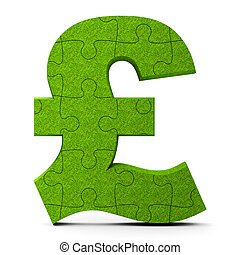 Green puzzle pound sign