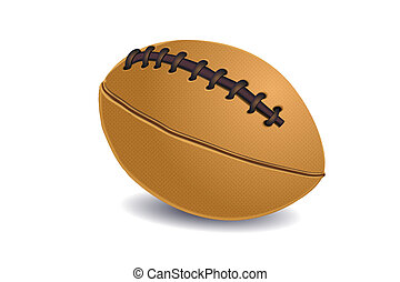 rugby ball - illustration of rugby ball on isolated...
