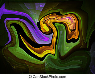 Colorful psychedelic liquefied background looks like...
