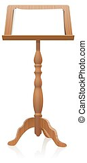 Lectern Reading Desk Blank Speech Notes - Podium or lectern...