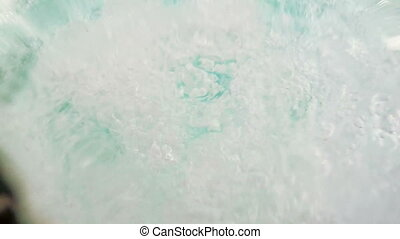 Water in the jacuzzi - Boiling water in the jacuzzi in the...