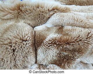 Peruvian Vicuna woolen fabric background
