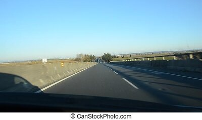 Driving on a motorway - Driving fast on a motorway