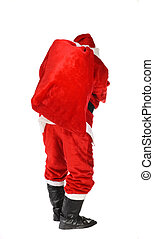 Santa Claus, photo on the white background