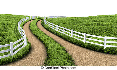 Country road - 3D Illustration