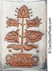 Architectural decorations of buildings VDNH - Bas-relief and...