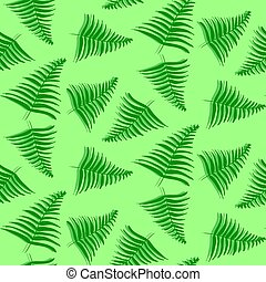 Pattern with tropical palm leaves