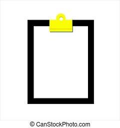 Vecteur-document, presse-papiers, feuille - Feuille pincée