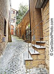 Street of the city Orvieto, Italy, Toscana - Ancient street...