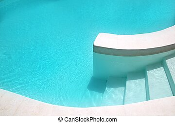 white pool turquoise water clean composition