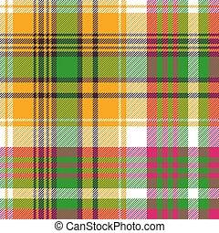Colors madras plaid textile texture seamless pattern. Vector...