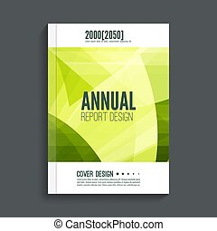Cover for journal, magazine. - Green Cover for journal,...