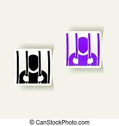 realistic design element. prisoner