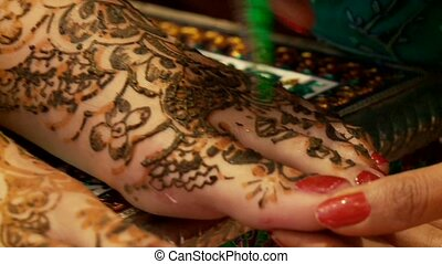 Henna Painted Feet
