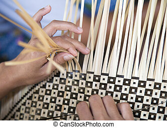 Bamboo weaving in a Lombok village