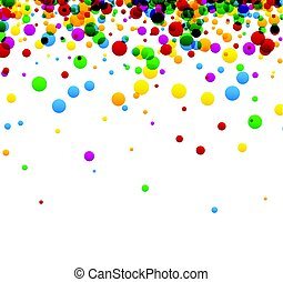 White background with colorful drops.
