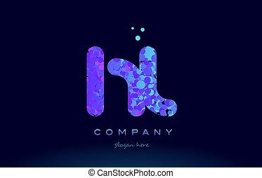hl h l bubble circle dots pink blue alphabet letter logo...