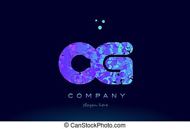 cg c g bubble circle dots pink blue alphabet letter logo...
