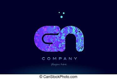 gn g n bubble circle dots pink blue alphabet letter logo...