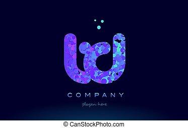 td t d bubble circle dots pink blue alphabet letter logo...