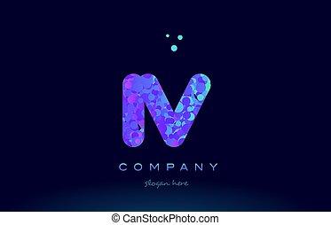 iv i v bubble circle dots pink blue alphabet letter logo...