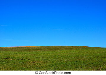 blue sky green grass - deep blue sky and green grass