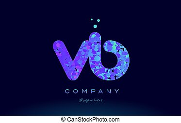 vb v b bubble circle dots pink blue alphabet letter logo...