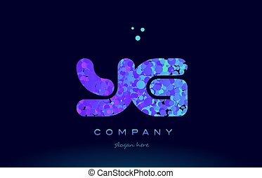 yg y g bubble circle dots pink blue alphabet letter logo...