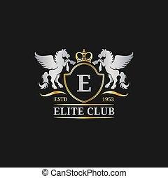 Vector monogram logo template. Luxury letter design....
