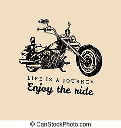 Life is a journey, enjoy the ride inspirational poster....