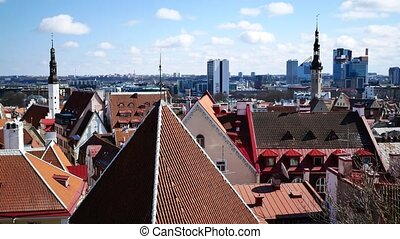 Historic Centre Old Town of Tallinn - Houses with red roofs...